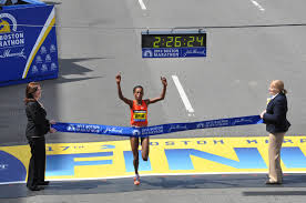 "American citizen Mebrahtom ""Meb"" Keflezighi  won the Boston Marathon and became a face America's spirit of resilience and hope!"